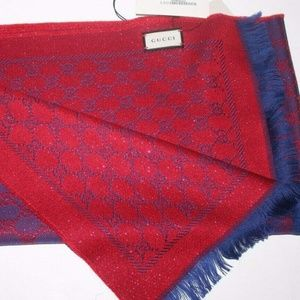 GUCCI WOMEN GUCCISSIMA REVERSIBLE WOOL BLEND SCARF